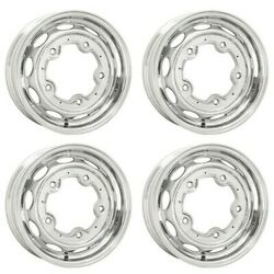 Vintage 190 Wheels, 15 X 4.5, 5 On 205, Silver Set Of 4, Dunebuggy And Vw