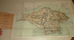 19eme Ancienne Carte Birds Eye View Map Of The Isle Of Wight Iles