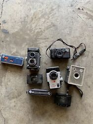 Collection Of Multiple 8 Different Vintage Antique Cameras