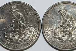 1987 1 Troy Ounce 999 Silver Engelhard Prospector Round Lot Of Two Ms Num5713
