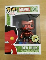 Funko Pop Metallic Red Hulk 31 Sdcc 2013 Limited 480. See Pictures.