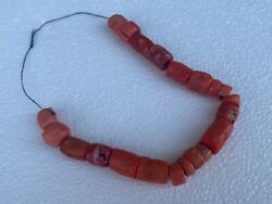 1800and039s Rare Ancient 21 Pieces 120 Gram Natural Coral Beads From The Sea Of Japan