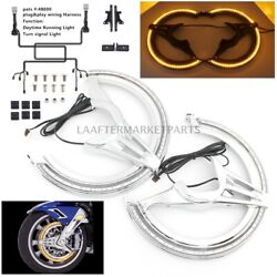 Motorcycle Brake Rotor Covers With Led Light For Honda Goldwing Gl1800 2018-up
