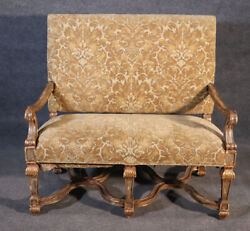 French Louis Xvi Style Gilded Paint Decorated Settee 2 Of 2 Available