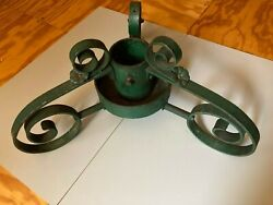 Art Nouveau Vintage Wrought Iron Handmade Christmas Tree Stand Simply The Best