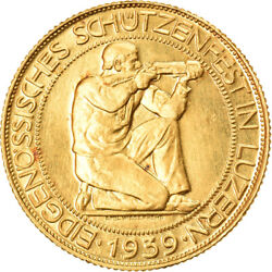 [905372] Coin Switzerland 100 Francs 1939 Bern Gold Kms21