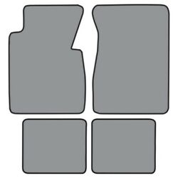 Floor Mat For 1955-1956 Chevrolet One-fifty Series Fm357f Fm2r 4pc