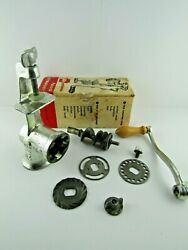 Vintage Food And Meat Chopper By Keystone 2-0 Or 20 With Box 3 Blades