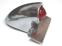 1950s Taillight Sparto Polished Aluminum Chopper Bobber Motorcycle 1169a