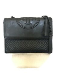 Tory Burch Fleming Matte Convertible Shoulder Bag Black Crossbody $167.00