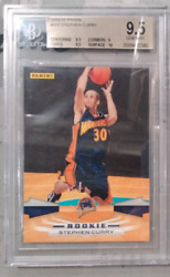 Stephen Curry 2009 Panini Rookie Card Rc 357 Golden State Warriors Bgs 9.5 Mint