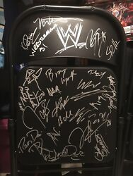Wwe Wrestlemania 31 Chair With Full Roster Autograph Plus Hall Of Famers