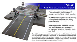 Kato 20-652-1 N Automated Road Crossing Track Kit W/lights And Sound U.s. Style