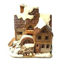 Rare 1990 Lefton Colonial Village Water Mill House Byron Wood Christmas Works