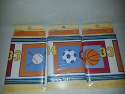 Sports Collection Wall Paper Border Kids Prepasted Lot Of 3 45 Feet Total C5