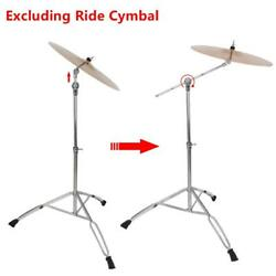 New Steel Cymbal Boom Stand Drum Hardware Percussion Holder Mount Silver Color