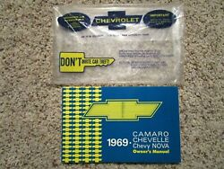 1969 Chevelle Ss Gm Factory Original Owners Manual And Glove Box Bag 1st Edt.