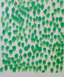 Donald Sultan From The 'wall Flowers' Suite Hand Signed Numbered Serigraph
