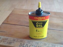 Vintage Outers 445 Gun Oil Can Game Hunting Gear Advertising Can Colors Display
