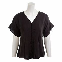 Dolan Anthropologie Womenand039s Ruffle Sleeve V-neck A-line Top