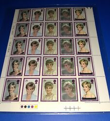 Vintage Princess Diana Of Wales Stamp And Magazine Collection The Crown