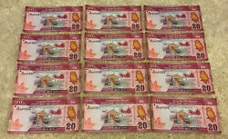 Lot Of 12 X Sri Lanka Banknotes. 12 X 20 Rupees. Dated 2016. Unc.