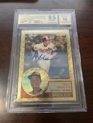 2018 Topps Silver Pack Chrome 1983 Superfractor Trey Mancini 1/1 Auto Bgs 9.5
