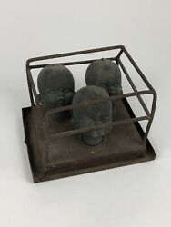 Antique Copper Doll Head Form/mold Set - Irwin Toy Factory Toronto