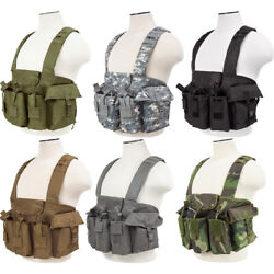 Vism Tactical Universal Chest Rig Airsoft Magazine Vest By Ncstar Cvakcr2921