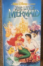 Original Banned Cover Artthe Little Mermaidvhs -rare, Discontinued.
