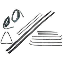 Sweep Belt And Glass Run Window Door Seal Kit And Vent 14 Pc Kit 64-66 Chevy Gmc