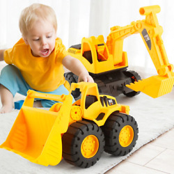 Baby Classic Simulation Large Engineering Suit Car Fall Resistance Toy Excavator