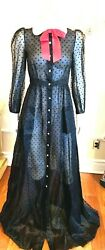 Authentic Sheer Long Dress Peter Pam Collar Size 6 Retail 7160.00