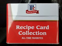 Mccormick Recipe Card Collection Tin Tasty Trusted Name 75 Recipe Cards New