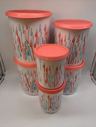 Tupperware One Touch Canister Wheat Set Of 6