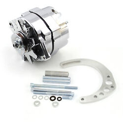 Chevy Sbc 350 100 Amp 1 Wire Alternator And Low Mount Electric Pump Bracket Kit