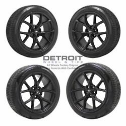 19 Ford Mustang Satin Black Wheels Rims And Tires Oem Set 4 2018-2020 10165,...