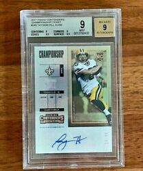 2017 Contenders Taysom Hill Rookie Rc Auto Bgs 9 18/49