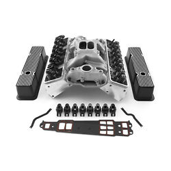 Chevy Sbc 350 Angle Cylinder Head Top End Engine Combo Kit - Outlaw Series