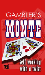 Mak Magic Gamblers Monte Bicycle Red Visual Card Change Smooth Gimmick See Video
