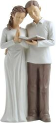 Treasured Moments Husband And Wife Praying Statue Sculpture Lovers Gift Figurine