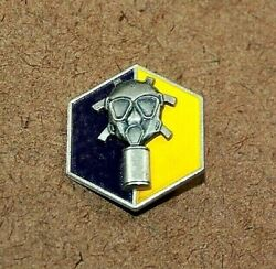 Rare Wwii Sterling Silver Us Army Chemical Corps Gas Mask Training Pin[011weir]1