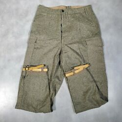 Vintage Wwii Ww2 British Royal Army Wool Pants Breeches - Military Trousers - 34