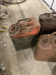 Army Gas Cans Lot Jerry Can Vintage
