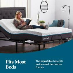 Adjustable Bed King Size Remote Controlled Base Heavy Duty Steel Multi Position