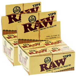 Raw Rolling Paper Tip Natural Authentic Pre-rolled Tips 2 Full Box 840 Tips