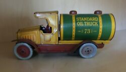 Strauss Company Antique Tin Wind-up Standard Oil Truck 73