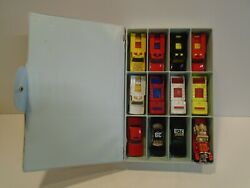 Hot Wheels Lot Of 12 Emergency Vehicles W/case Fire Eater Emergency Squad Police