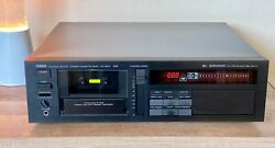 Yamaha Kx-1200 Audiophile 3-head Stereo 3 Motor Cassette Deck W/remote Serviced