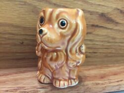 Vintage Dog Tiny Cocker Spaniel w Opening at Top 2quot; high